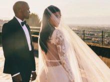 Свадебное платье Ким Кардашьян вид со спины