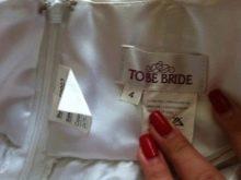 Бирка на свадебном платье