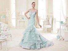 Свадебное платье от Nicole Fashion Group бирюзовое