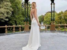 Свадебное платье с иллюзией открытой спины