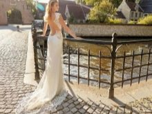 Свадебное платье с открытой спиной модное