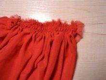 Присборивание юбки