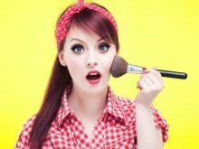 Повседневный макияж в стиле рокабилли