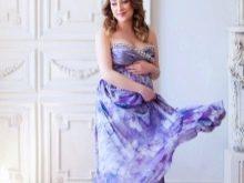 Сиреневое платье для фотосессии беременных