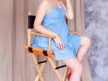 Короткое платье для фотосессии беременной
