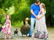 Фотосессия беременной в парке