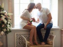 Фотосессия беременной с мужем в фотостудии