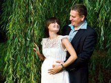 Платье с коротким рукавом для беременных