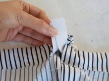 Сшивание краев резинки