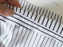 Побгиб срезов на рубашке