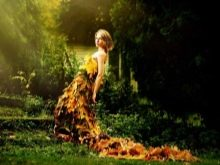 Платье из осенних листьев