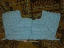 Вязание кокетки на платье для девочки до года - шаг 6