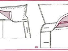 Схема втачивания воротника-стойки