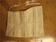 Сшивание подклада и корсета