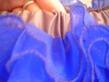 Пристрачивание резинки на юбку для девочки