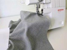 Обработка низа юбки полусолнце на резинке