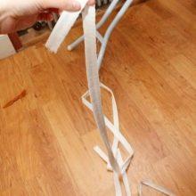 Пошив ленты на свадебный корсет
