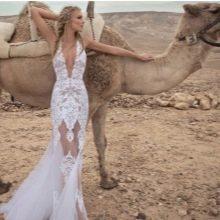 Свадебное платье Zoog Bridal кружевное с V-образным вырезом