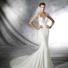 Свадебное платье Pronovias с ажурным верхом