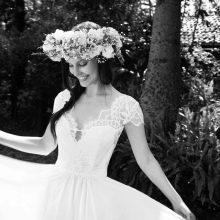 Свадебное платье с кружевными рукавами Arava Kashdan