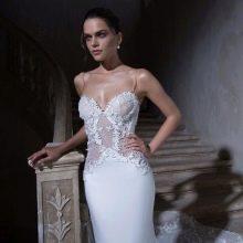 откровенное свадебное платье с прозрачным корсетом