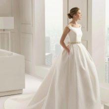 Скромное свадебное платье пышное от  Rosa Clara