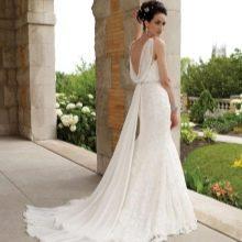 Свадебное платье греческое со шлейфом ватто