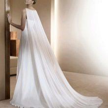 Греческое свадебное платье со шлейфом Ватто