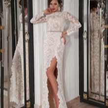 Свадебное кружевное платье от Crystal Design