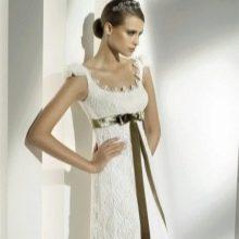 Свадебное платье со связанным верхом
