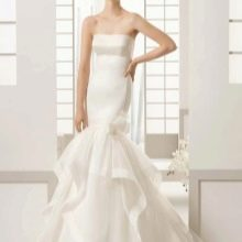 Свадебное платье русалка из шифона