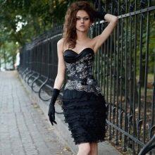Вечернее короткое платье от Оксаны мухи прямое