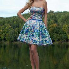 Вечернее короткое платье от Оксаны мухи цветное