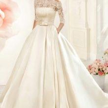 Пышное свадебное платье цвета айвори от Навиблю