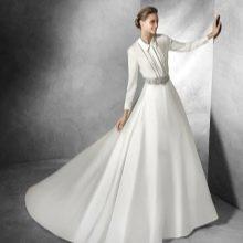 Пышное свадебное платье-рубашка