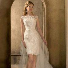 Свадебное платье короткое из коллекции Римские каникулы от Габбиано