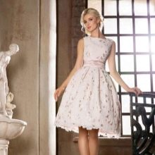 Свадебное платье укороченное из коллекции Римские каникулы от Габбиано