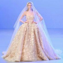 Кружевное свадебное платье для венчания