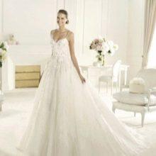 Свадебное платье а-силуэта от Эли Сааба