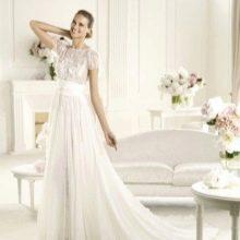Свадебное платье на бретелях от Эли Сааба