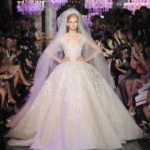 Золотистое свадебное лпатье от Эли Сааб
