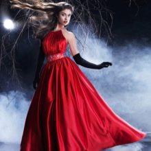 Красное вечернее платье 50 размера а-силуэта