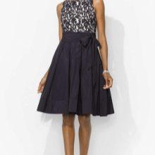 Короткое вечернее платье с юбкой трапецией 50 размера