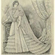 Иллюстрация свадебного платья 18 века
