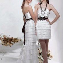 Свадебное платье со съемной юбкой