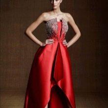 Красное вечернее платье для ресторана