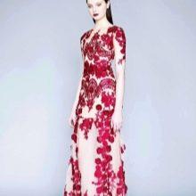 Бело-красное вечернее платье
