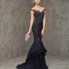 Вечернее кружевное платье русалка