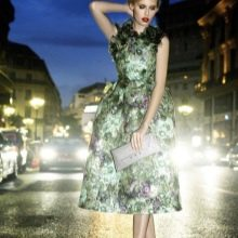 Зеленое платье вечернее миди