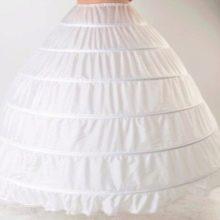 Кринолиновый свадебный подъюбник из 6 колец